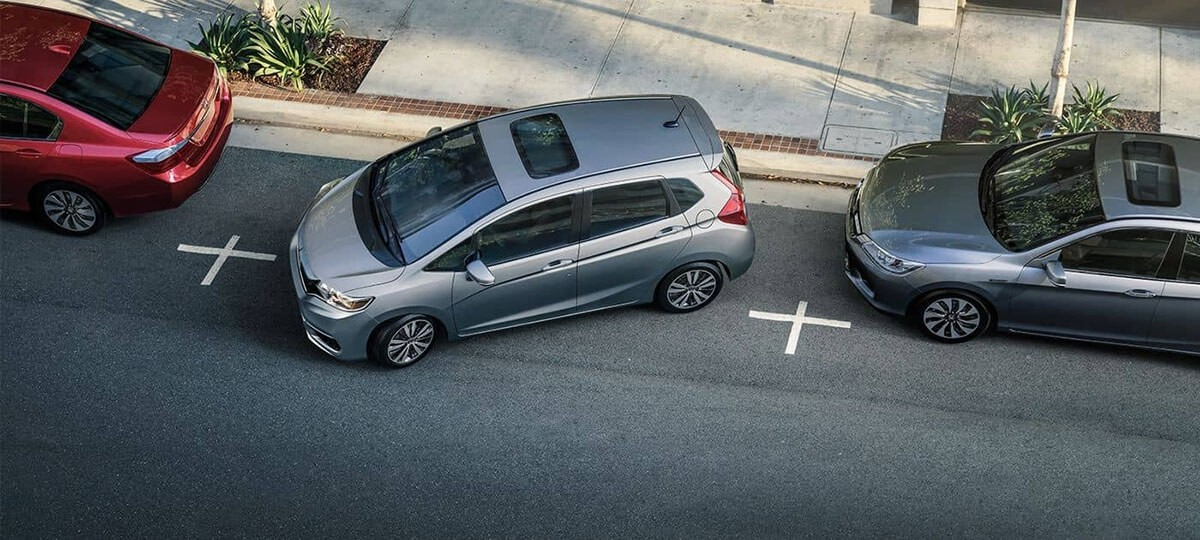 2018 Honda Fit getting ready to park