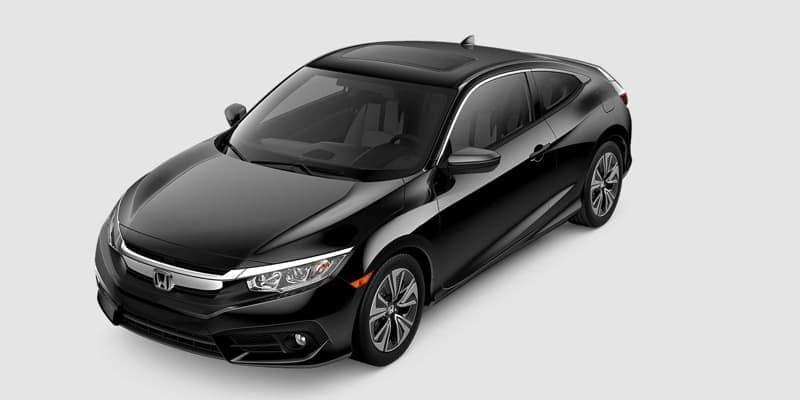2018 Honda Civic Coupe EX-L white background