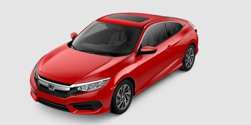 2018 Honda Civic Coupe LX-P white background