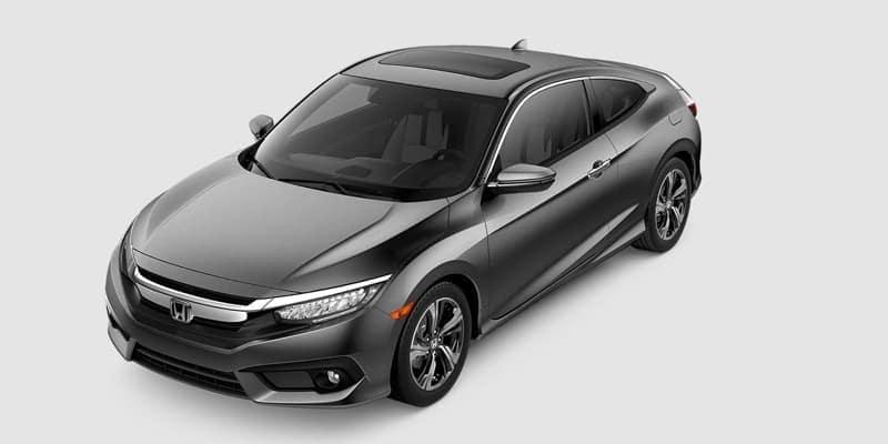 2018 Honda Civic Coupe Touring white background
