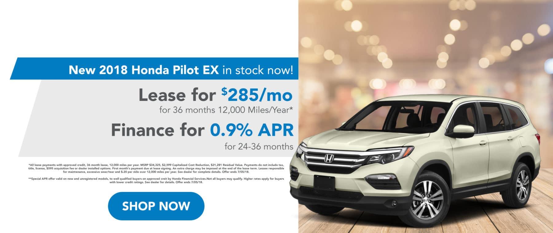 Honda Pilot EX June Special Offer