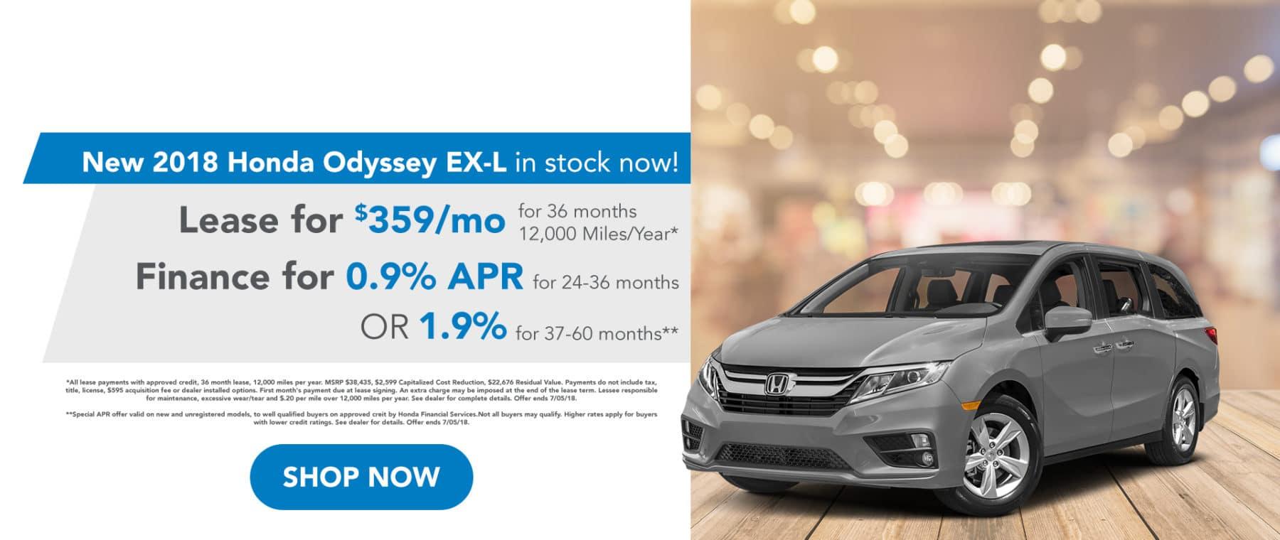 Richards Honda Odyssey June Special Offer