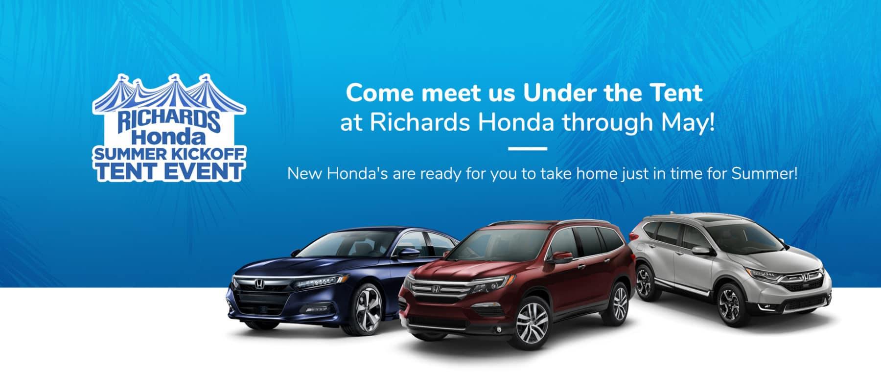 Richards Honda May Tent Sale