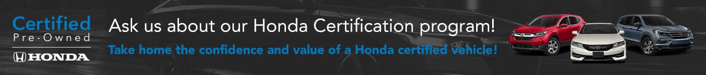 Honda Certified Vehicle Program Highlight