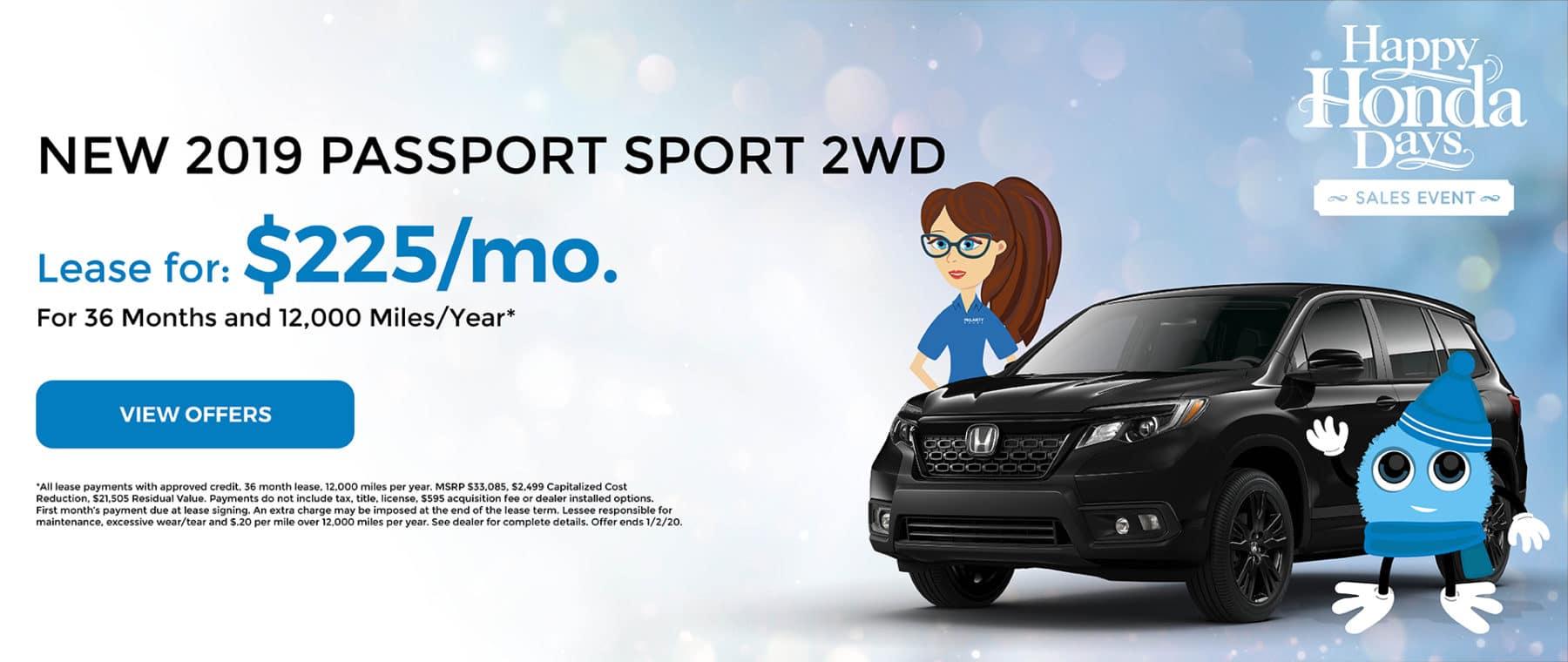 2019 Passport Sport 2WD