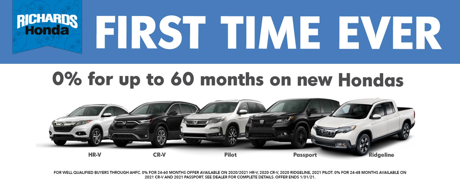 0% APR First Time Ever