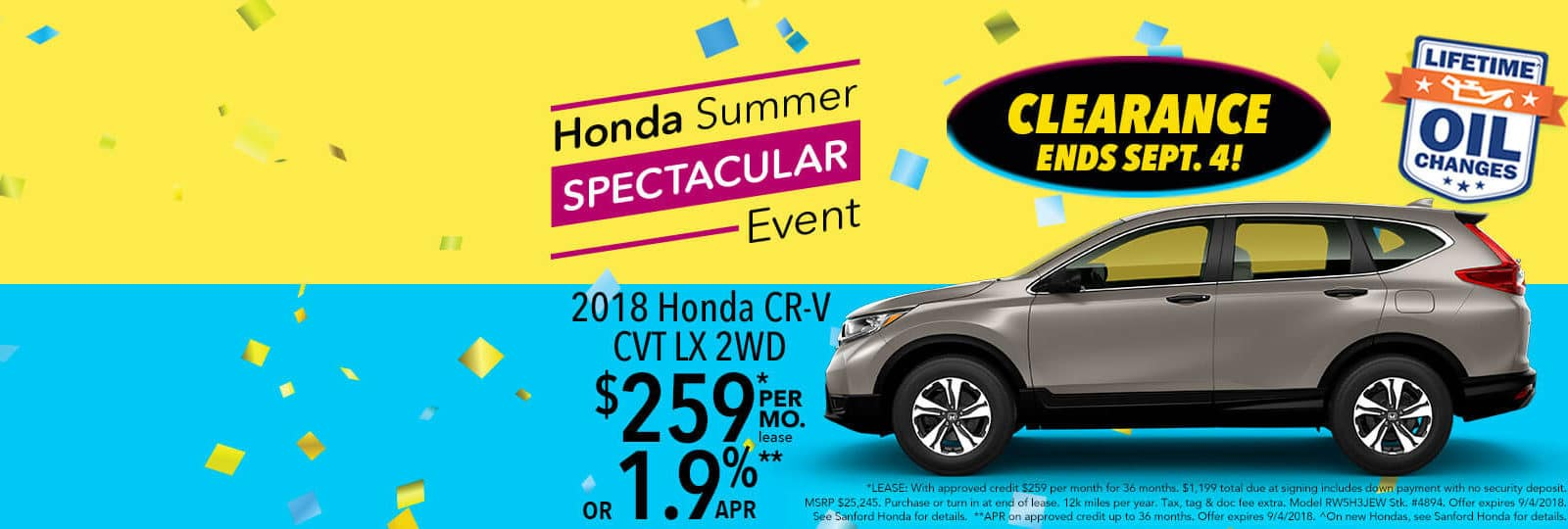 2018 Honda CR V Sanford Odyssey Summer Event Slider