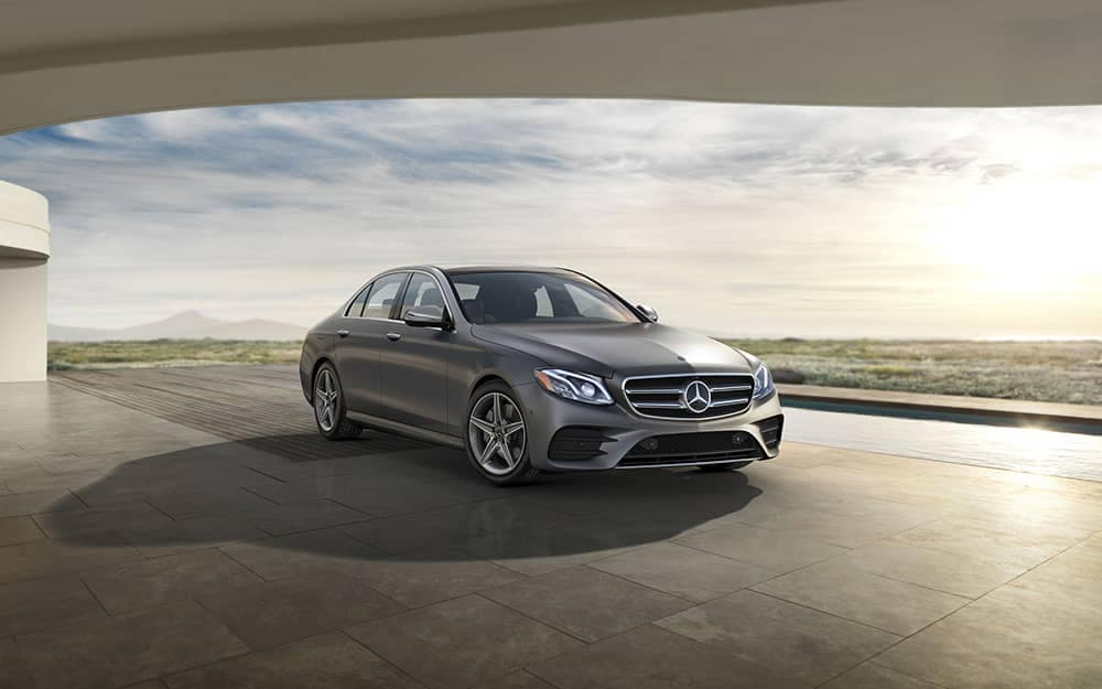 2019 Mercedes-Benz E-Class parked with long shadow