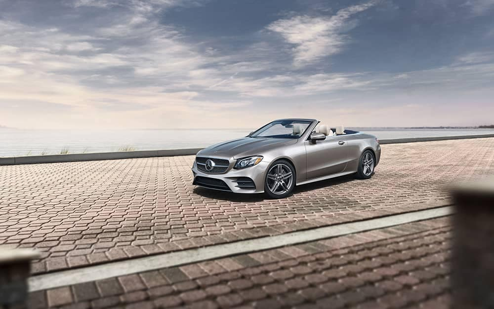 2019 Mercedes-Benz E-Class under clouds