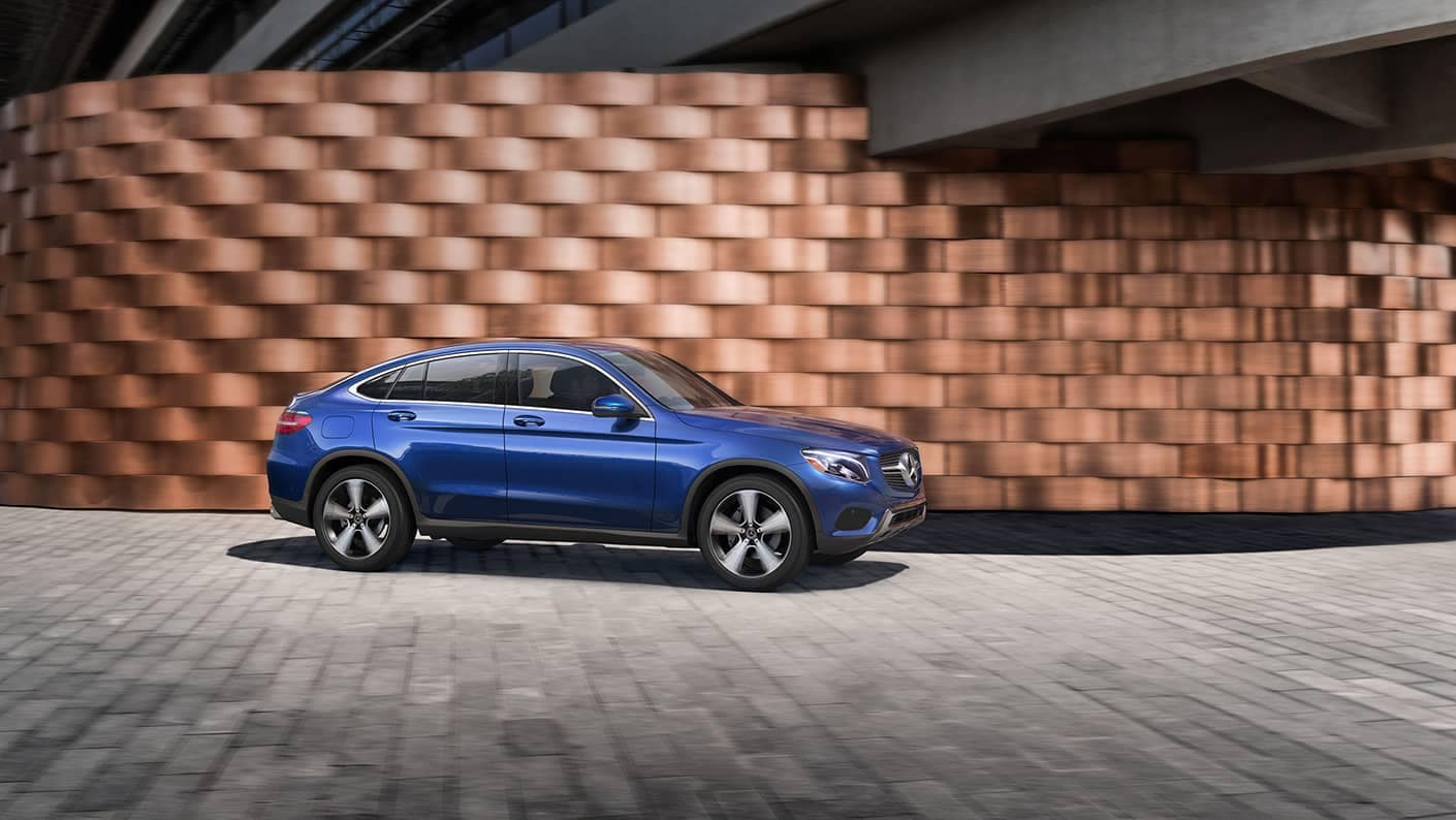 2019 Mercedes-Benz GLC in front of wall