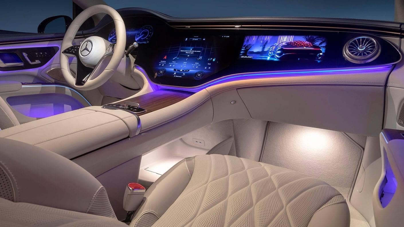 2022 EQS interior passenger side