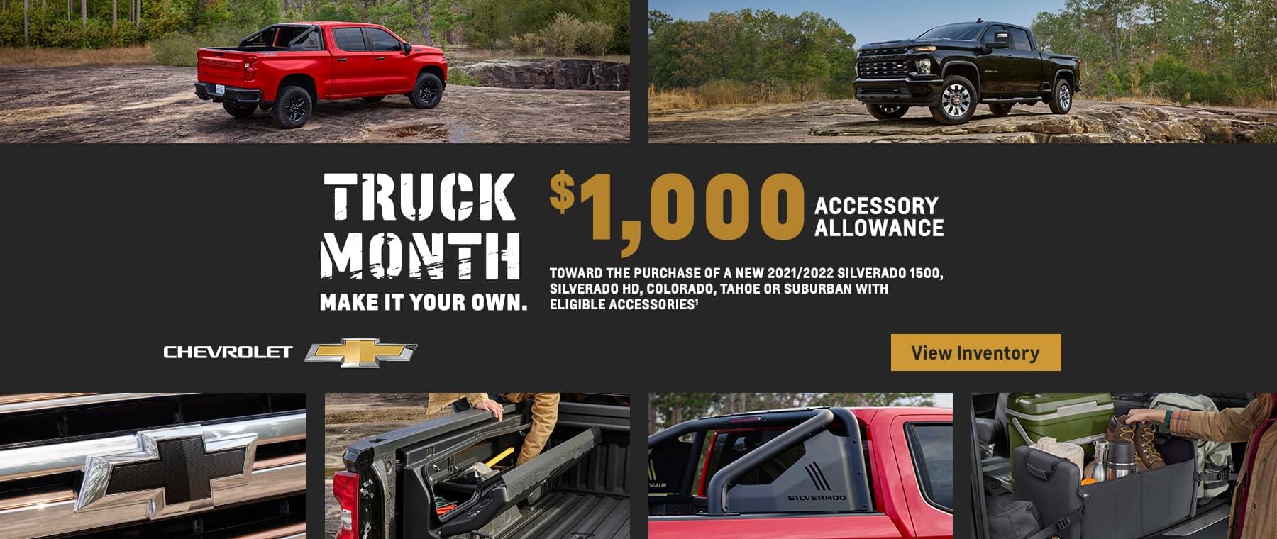 truck month accessory allowance