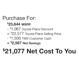 Toyota C-HR Purchase Offer