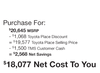 Toyota Corolla iM Purchase Offer