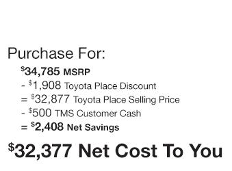 Toyota Sienna Purchase Offer