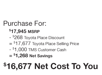 Toyota Yaris iA Purchase Offer