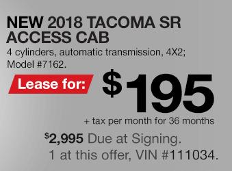 Toyota Tacoma Lease Offer