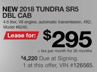 Toyota Tundra Lease Offer