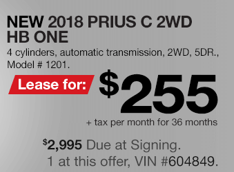 Toyota Prius c Lease Offer