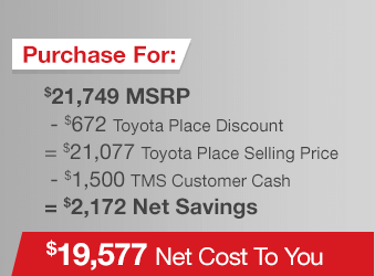 Toyota Prius c Purchase Offer