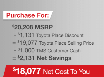 Toyota Corolla Purchase Offer