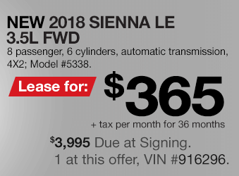 Toyota Sienna Lease Offer