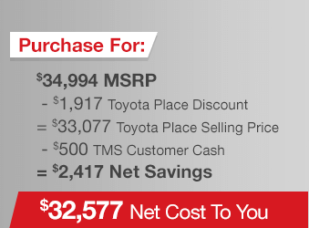 Toyota Sienna Purchase Offer