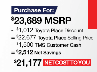 Toyota C-HR Purchase Offer June 2018