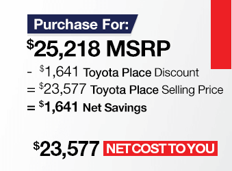 Toyota Camry Purchase Offer June 2018