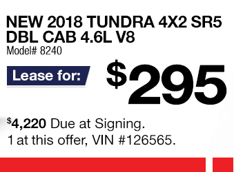 Toyota Tundra Lease Offer June 2018
