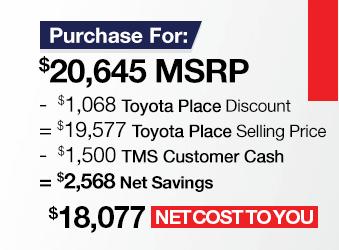 Toyota Corolla iM Purchase Offer June 2018