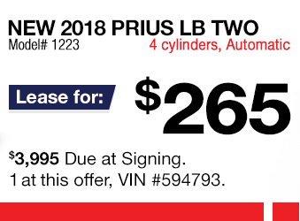 Toyota Prius Lease Offer June 2018