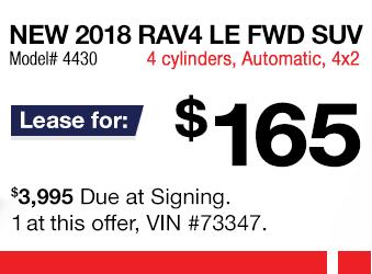 Toyota RAV4 Lease Offer June 2018
