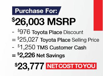 Toyota RAV4 Purchase Offer June 2018