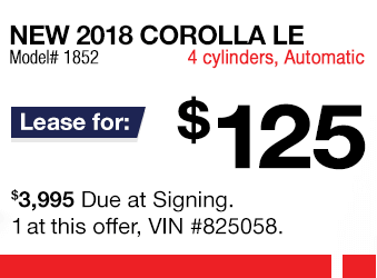 Toyota Corolla Lease Offer June 2018