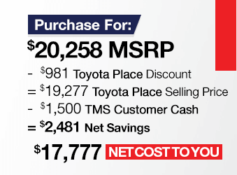 Toyota Corolla Purchase Offer June 2018