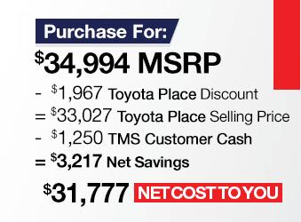 Toyota Sienna Purchase Offer June 2018