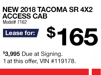 Toyota Tacoma Lease Offer June 2018