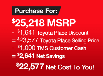 Toyota Camry Clearance Event Purchase Offer 2018