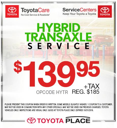 Hybrid Transaxle Service $139.95 + tax
