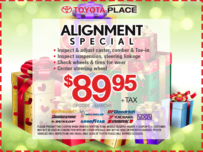 Wheel Alignment Special $89.95 + tax