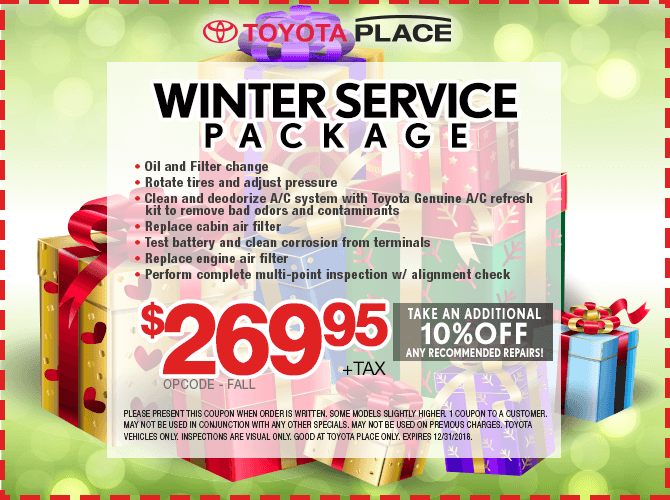 Winter Service Package Special $269.95 + tax