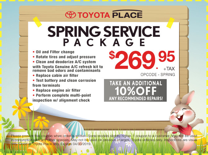 Spring Service Package Special $269.95 + tax
