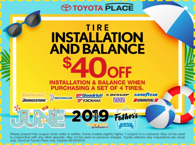 Tire Installation and Tire Balance $40 Off