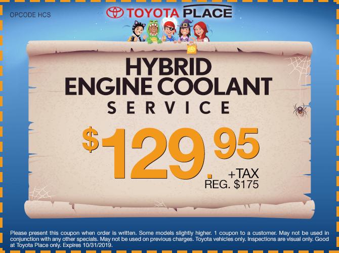 Hybrid Engine Coolant Service $129.95 + tax