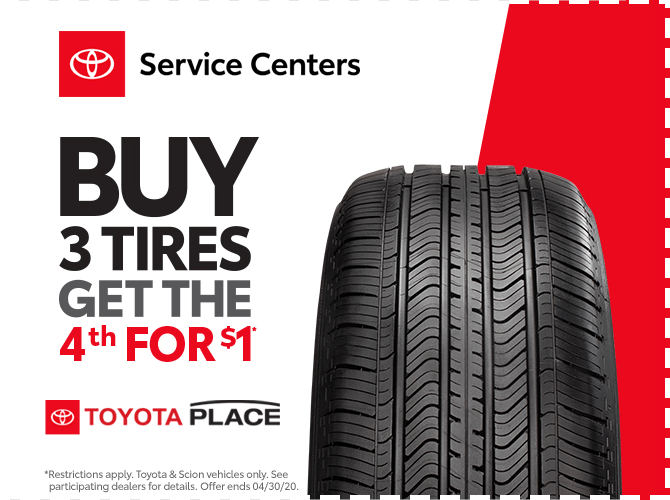 Buy 3 Get the 4th for One Dollar Tire Special