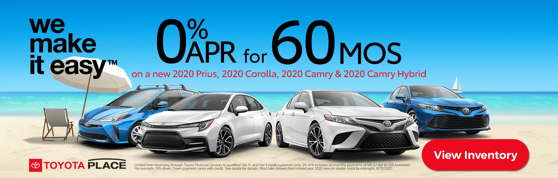 Toyota Deals Zero Percent APR in Orange County