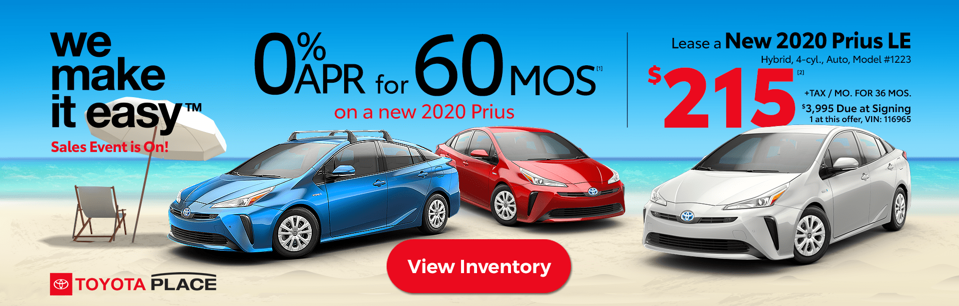 We Make it Easy Sales Event Prius Deals Lease