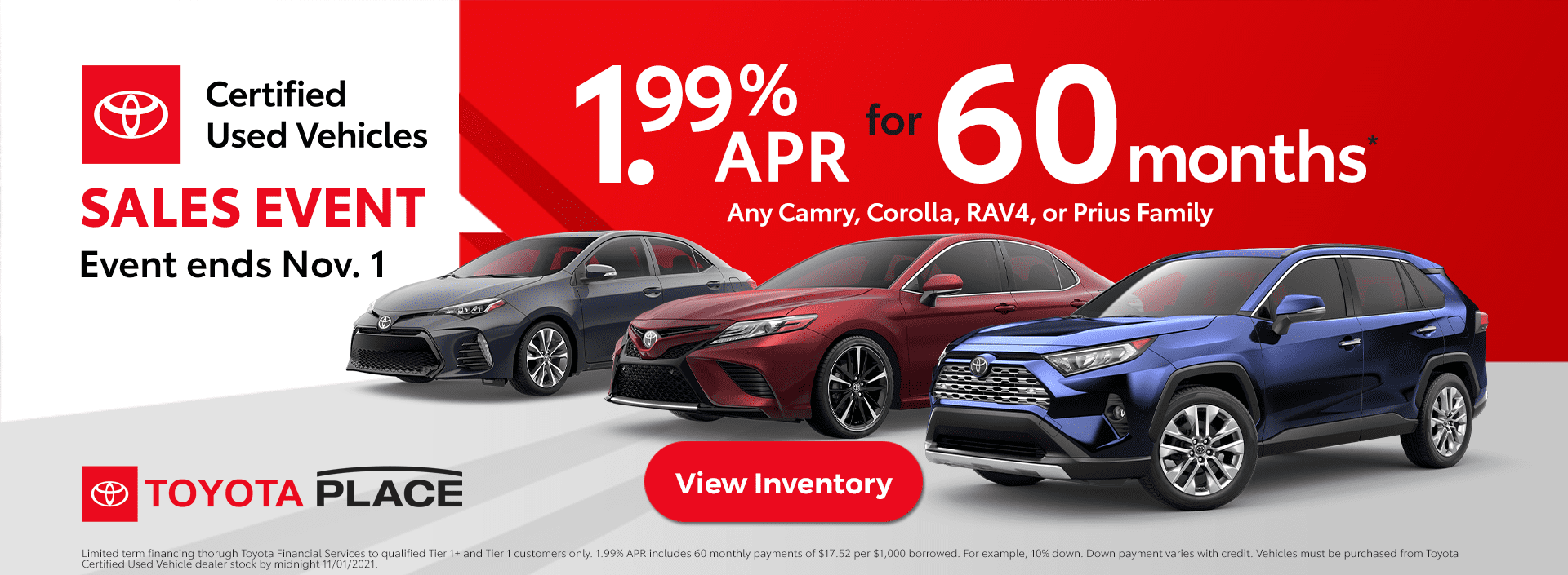 Toyota Certified Used Vehicle Sales Event Used Vehicle Specials