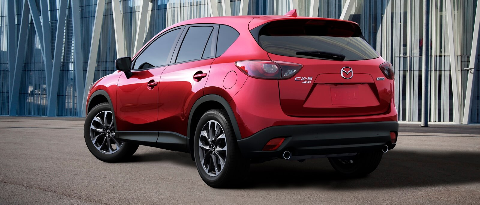 red 2016 Mazda CX-5 parked
